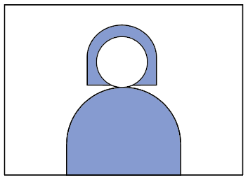 an illustration of a person, to show that this recording option is for people who want to appear on camera