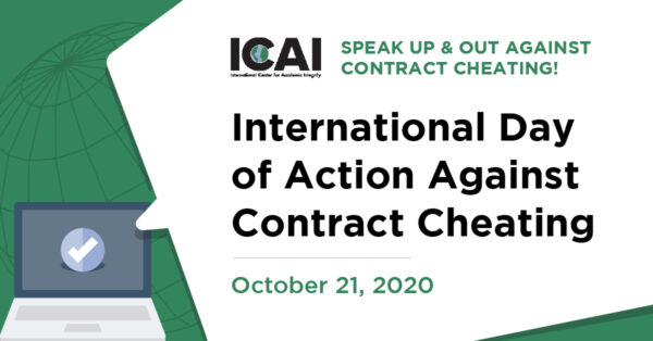 International Day of Action Against Contract Cheating, October 21, 2020